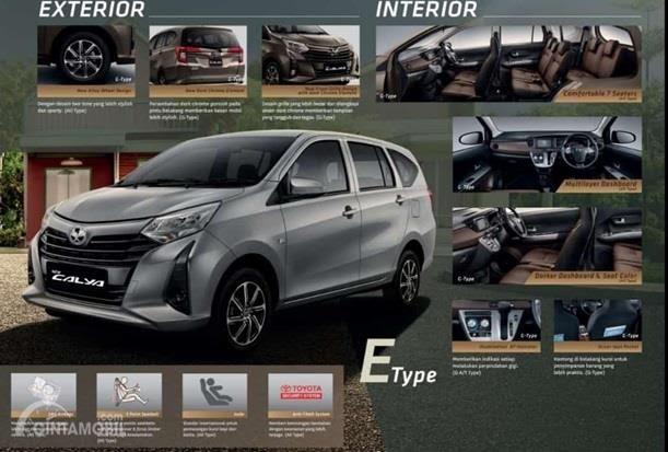 New Toyota Calya E 2019 mendapatkan ubahan menarik yakni dari sisi eksterior seperti wajah, pelek dan sektor buritannya