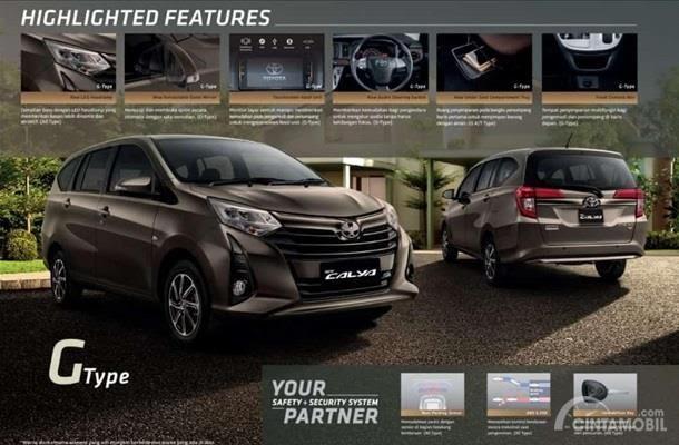 New Toyota Calya G 2019 mendapat ubahan dari eksterior, fitur Head Unit Touchscreen, tombol pengaturan audio pada setir hingga fitur pelipatan kaca spion otomatis